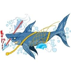 Wounded shark marine mammal vector