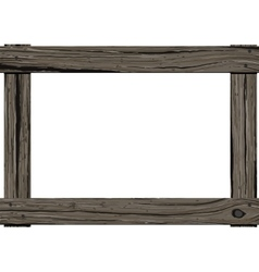 Wooden old frame vector image