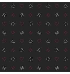 Black seamless gambling background vector