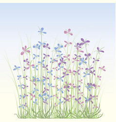 Soft spring flowers vector