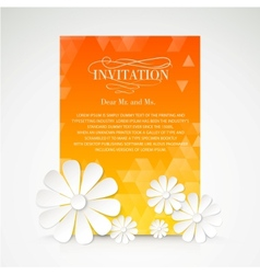 Paper flower postcard vector