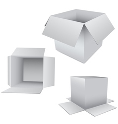 3d box set vector