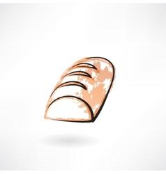 Bread grunge icon vector image