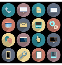 Flat icons for web and mobile applications objects vector