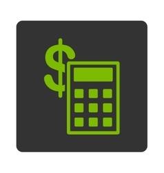 Calculation icon from commerce buttons overcolor vector