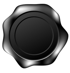 black wax seal vector image