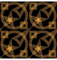 Abstract gold and black seamless pattern vector