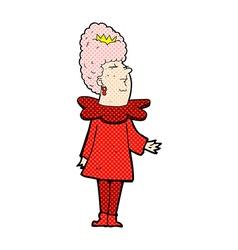 Comic cartoon queen vector