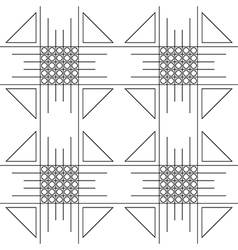 Pattern black and white with squares trigons vector