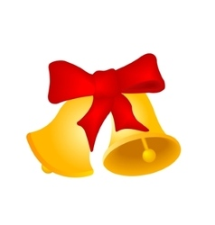 Two christmas hand bells vector
