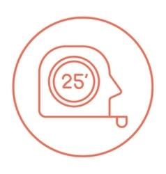 Tape measure line icon vector