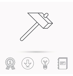 Hammer icon repair or fix sign vector