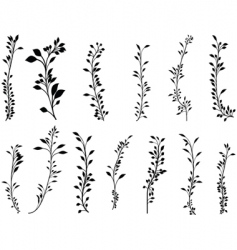 Foliage set vector