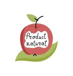 Organic food label logo for vegan menu or food vector