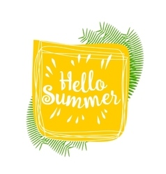 Hello summer lively hand drawn picture vector