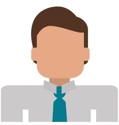 Businessman portrait icon vector
