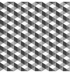 Abstract geometric background monochrome cube vector