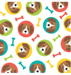 beagle pattern vector image vector image