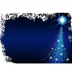 blue christmas vector image vector image