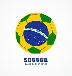 Brazil football design vector
