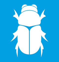 Chafer beetle icon white vector
