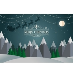 Christmas card Winter holidays landscape vector image vector image