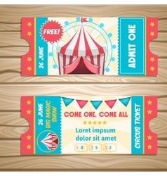 Circus Event Tickets vector image