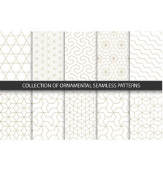 collection of seamless ornametal patterns vector image