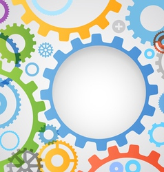 Color different gear wheels abstract background vector