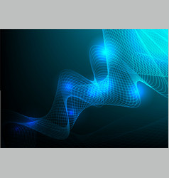 curved line blue abstract background vector image