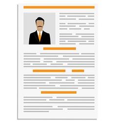CV design template vector image