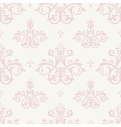 Damask seamless pink pattern vector
