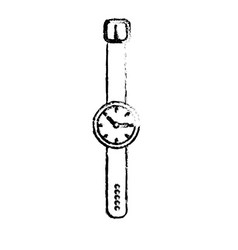Figure nice watch to know the time of day vector