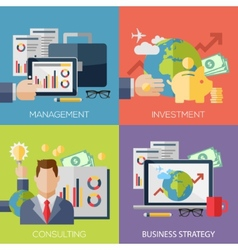 Flat design concepts for business strategy vector image