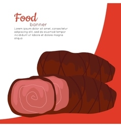 Food banner grilled delicious meat junk food vector