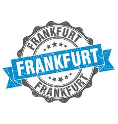 Frankfurt round ribbon seal vector