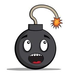 Funky cartoon bomb ready to explode vector
