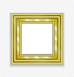 Gold vintage frame decorative picture vector