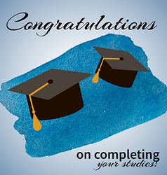 Greeting Card With Congratulations Graduate vector image vector image