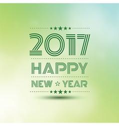 Happy new year 2017 2 vector image vector image