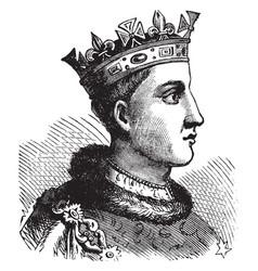 Henry vi of england vintage vector