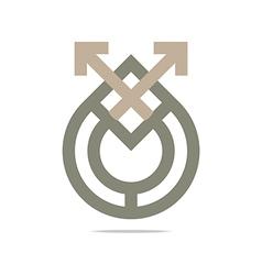 Icon circle square design vector