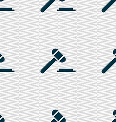 judge hammer icon Seamless abstract background vector image vector image