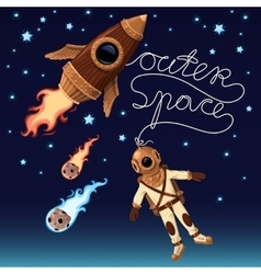Outer space background vector