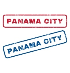 Panama city rubber stamps vector