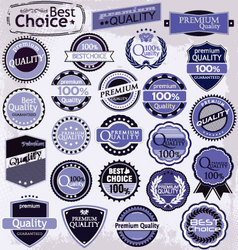 retro label style collection purple set vector image vector image