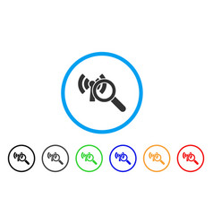 search wi-fi network rounded icon vector image vector image