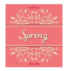 Spring card with floral pattern vector