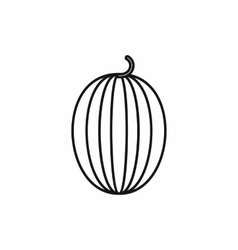 Striped melon icon outline style vector