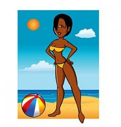 swimsuit model black vector image vector image